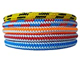 #10: Arborist Climbing Rope (7/16 in - 1/2 in) – Polyester Sheath – Low Stretch, Flexible, High Visibility, Chemical Resistant – Tree Work Services, Landscaping – Several Colors & Lengths (120 ft – 200 ft)