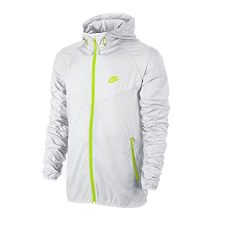 a680e1b0d2 Nike Mens Sunset Printed Windrunner Running Jacket White Volt Green   Amazon.ca  Sports   Outdoors
