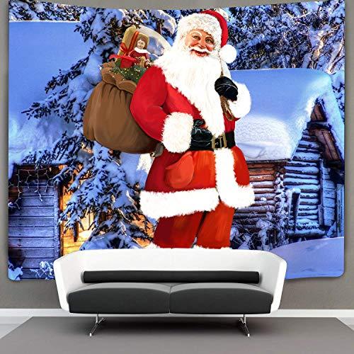 Wall Santa Claus (Tom Boy Christmas Decorations Tapestry,Xmas Decor,Funny Santa Claus Tapestries Wall Hanging for Bedroom Living Room Dorm)