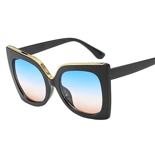 Yangjing-hl Gafas de Sol de Caja Grande Gafas de Tendencia ...