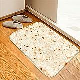 Weiliru Comfort Food Creation Mexican Burritos Comfortable Square Flannel Kitchen Anti-Slip Mats Children's Room Carpet