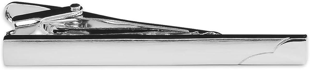 The Masonic Exchange Elegant Wavy Tie Clip - [Silver][2 1/4'' Wide]