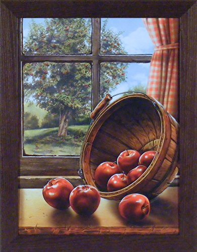 Red Delicious by Doug Knutson 22x28 Apples Bushel Tree Art Print Wall Décor Framed Picture ()