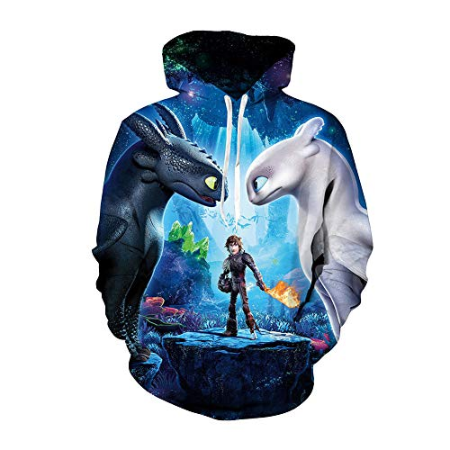 Hiccup Costume HTTYD Cosplay Jacket Halloween Hoodie Night Fury Toothless Pullover for Boys -