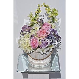 Shabby Chic Roses, Delphinium & Allium Floral Arrangement 4