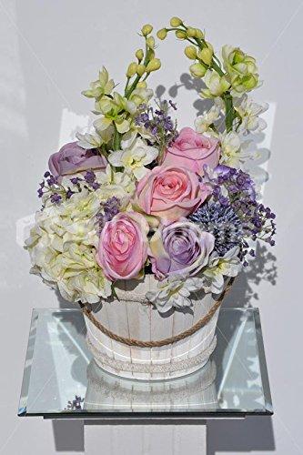 Shabby Chic Roses, Delphinium & Allium Floral Arrangement