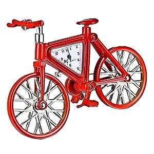DIY Hand-assembled Bicycle Alarm Clock Red