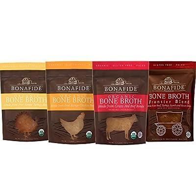 Bonafide Provisions Organic Fresh-Frozen Bone Broth. Non GMO Small Batch, KETO Friendly, Low-Calorie, Healthy Collagen Rich, Low-Fat Post Workout Supplement! Bulk 12-pack