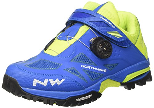 Northwave Enduro Mid MTB Fahrrad Schuhe blau/gelb 2018: Größe: 38