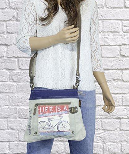 Sunsa Damen Vintage Tasche Umhängetasche Schultertasche aus Canvas
