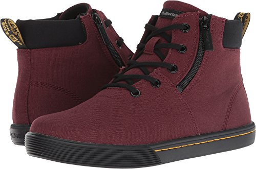 Padded 6 Collar Boot Eye (Dr. Martens - Womens Maegley 5 Eye Boot, Size: 8 B(M) US / 6 F(M) UK, Color: Old Oxblood Canvas & Black Fine Canvas)