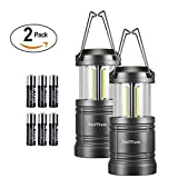 LED Camping Lantern- Swiftrans 2 Pack Lantern Flashlight Ultra Bright Survival Gear for Emergencies Hurricanes with Magnetic Base(6 Batteries Included Collapsible)