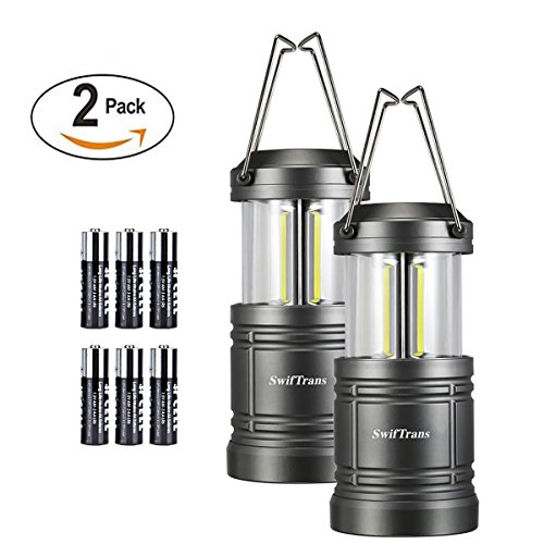 LED-Camping-Lantern-Swiftrans-2-Pack-Lantern-Flashlight-Ultra-Bright-Survival-Gear-for-Emergencies-Hurricanes-with-Magnetic-Base6-Batteries-Included-Collapsible