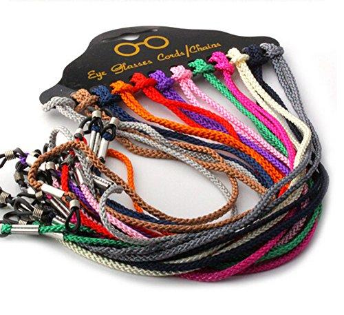 EUBUY Braided Set of 12 Pcs Colorful Nylon Eyeglass Cord Reading Sunglass Neck Strap Eyewear Retainer Rope Holder