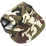 TopTie Pet Dog Cat Baseball Cap with Ear Holes, Dog Costume-Camo-M