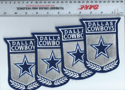 Set of 4 Vintage 1990s NFL Dallas Cowboys 5 inch Crest Patch LARGE (sew on)