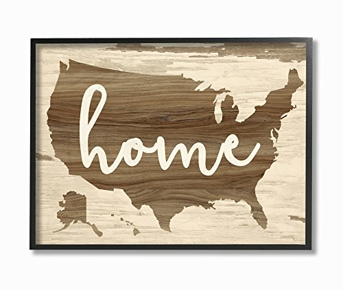 Stupell Home Décor Home Distressed Wood US Map