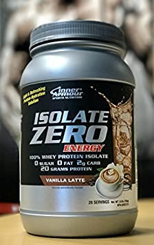 Inner Armour Isolate Zero Energy, Vanilla Latte 1.6 Pounds