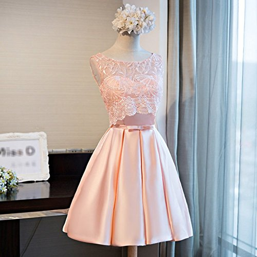 Cocktail Dresses Wedding Pink Satin Homecmoing Prom A Short Line Party Drasawee Juniors Rwqxv8UB4