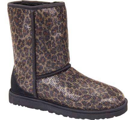 UGG Classic Short Glitter, Botines para Mujer, Leopardo, 37 EU: Amazon.es: Zapatos y complementos