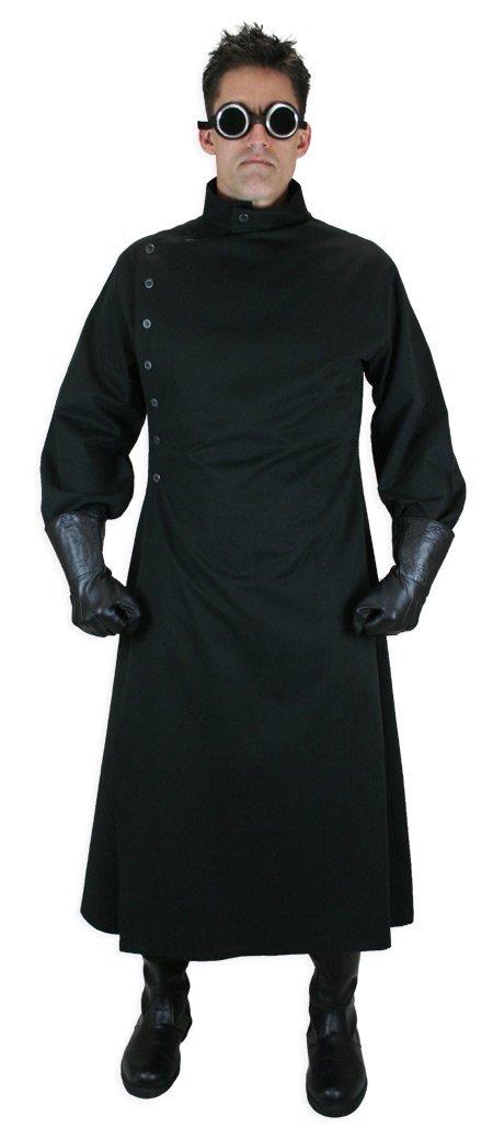 Historical Emporium Men's Cotton Twill Mad Scientist Howie Lab Coat XL/2X Black