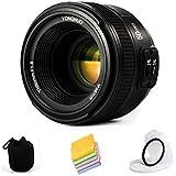 VILTROX YONGNUO YN50mm F1.8N Standard Prime Lens Large Aperture Auto Manual Focus AF MF for Nikon DSLR Cameras,with protective lens bag,lens filter