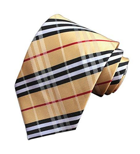 (Eeleva New Classic Scottish Tartan/Plaid Silk Ties Wedding Necktie (soil black))