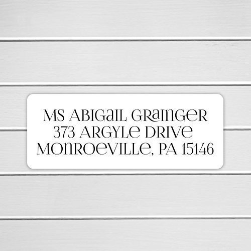 Amazon.com: 60ct - Wedding Invitation Return Address Labels, Wedding ...
