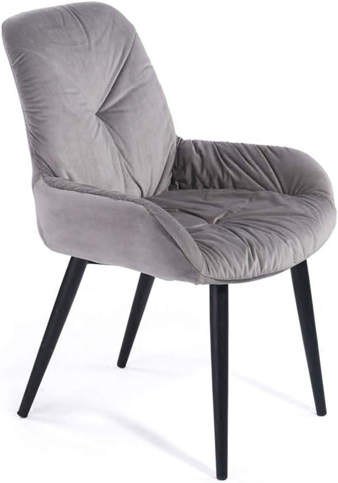 LIUDINGDING-アームチェア, 北欧のシンプルな人間工学に基づいた椅子学習椅子学生のライティングチェアコンピュータチェアスタディソフトパックのコーヒーチェア (Color : Gray)