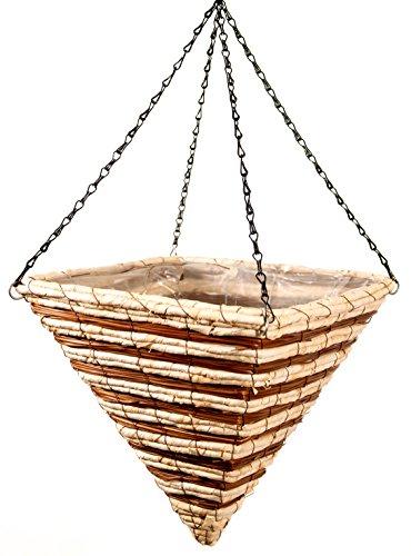 SuperMoss (29630) Wood Woven Baskets - Pyramid Style, Stratton 14