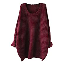 Long Sleeve Womens Casual Pullovers Round Neck Sweaters