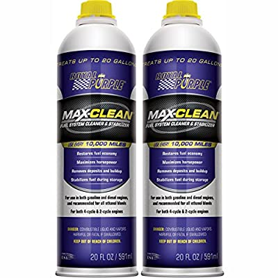 Royal Purple 11722-2PK Max-Clean Fuel System Cleaner and Stabilizer - 20 oz. Bottle, (Pack of 2): Automotive