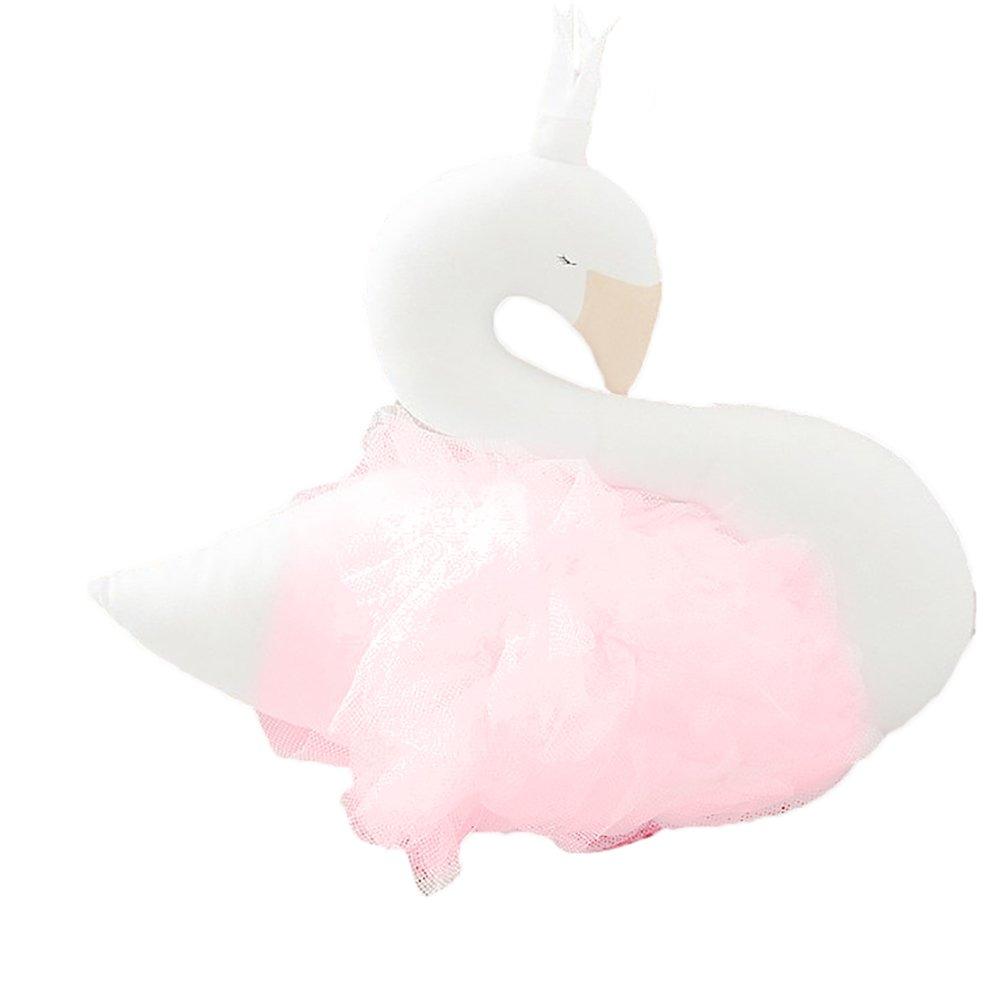 SuBoZhuLiuJ Soft Animal Swan Stuffed Plush Toy Kids Baby Sleeping Dolls for Kids Room Decor Birthday Xmas Gift Pink