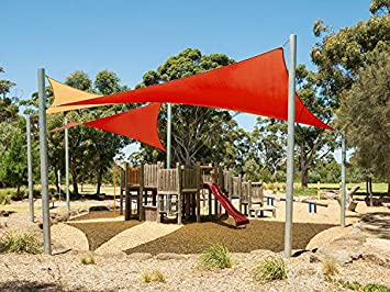 Cool Area Right Triangle 16 5 x 16 5 x 22 11 Sun Shade Sail for Patio in Color Terra