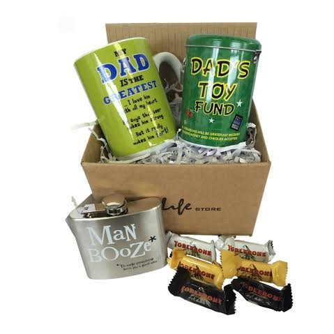 Best Father's Day/ Birtyhday Gift Set With Mug, Money Tin , Hip Flask and Toblerone Chocolates Plus FREE Marshmallows Bag