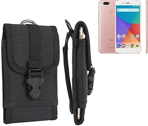 K-S-Trade Bolsa del Cinturón Funda para Xiaomi Mi A1, Negro | Caja ...