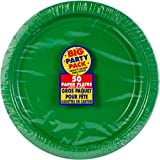 Big Party Pack Festive Green Paper Plates | 9"