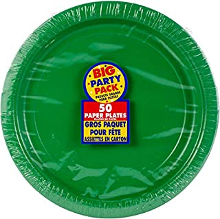 """Big Party Pack Festive Green Paper Plates 