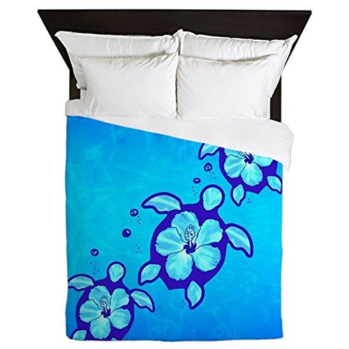 CafePress-3-Blue-Honu-Turtles-Queen-Duvet-Cover-Printed-Comforter-Cover-Unique-Bedding-Luxe