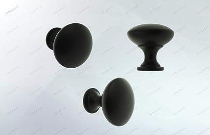 8 x White//Black Mushroom Door Knob Cabinet Cupboard Drawer Handle