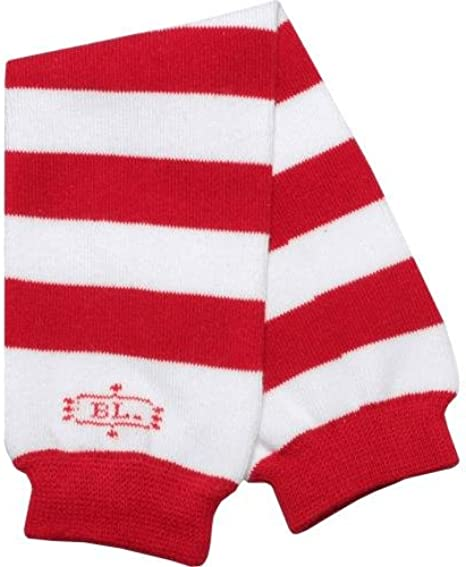 Kids//Baby//Toddler//Infants White with Multi Colored Shamrocks Striped Leg Warmers