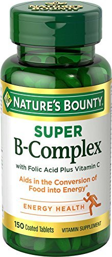 Nature's Bounty B-Complex with Folic Acid Plus Vitamin C, Tablets (Pack of 10)