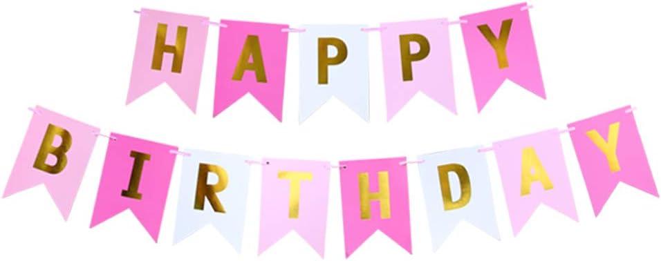 Style 3 thematys Happy Birthday Festa Ghirlanda di Compleanno in 8 Diversi Disegni e Colori