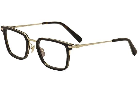 dad4b21c11794 Brioni Eyeglasses BR 0010O 0010 O 002 Black Gold Dark Havana Optical ...
