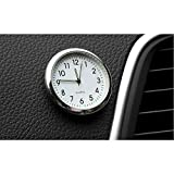 DishyKooker Car Ornament Automotive Clock Auto Watch Automobiles Interior Decoration Stick-On Clock Ornaments Accessories Fluorescent White for Car Accessories