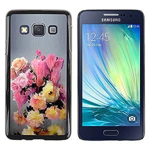 Ziland/Diseño delgado funda Shel/pintura flores colores Pastel/Samsung Galaxy A3SM-A300