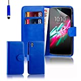 Alcatel Idol 3 Case by 32nd®, Book Style PU Leather Wallet Case Cover for Alcatel OneTouch Idol 3 mobile phone (5.5 inch version only) - Deep Blue