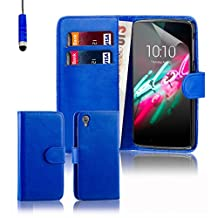 Alcatel Idol 3 Case by 32nd, Book Style PU Leather Wallet Case Cover for Alcatel OneTouch Idol 3 cell phone (5.5 inch version only) - Deep Blue
