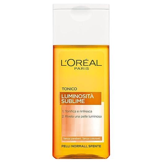 5 opinioni per L'Oréal Paris Luminosità Sublime Tonico Viso per Pelli Normali, Spente, 200 ml