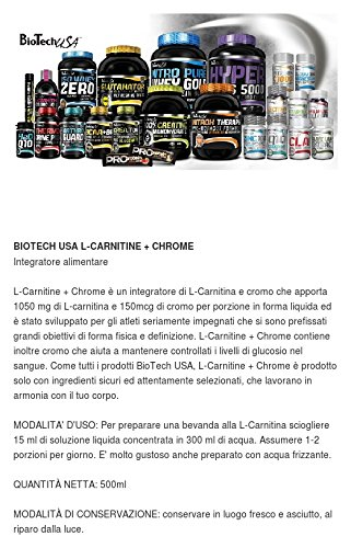 Biotech L-Carnitine + Chrome Grapefrui 500ml
